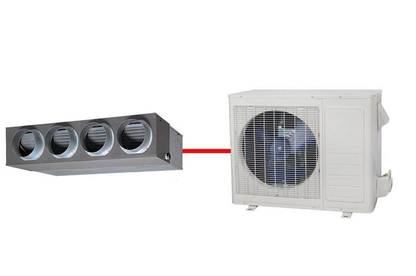 Ducted system heat pump