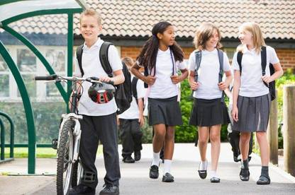 Schools often enter into exclusive arrangements for school uniforms.