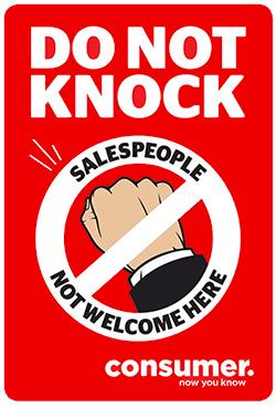 Do not knock sticker body img