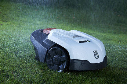 Husqvarna say it can operate in the rain and handle wet grass – but we don't recommend cutting grass in wet conditions.
