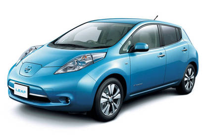 The Nissan Leaf, starting at $40,000.
